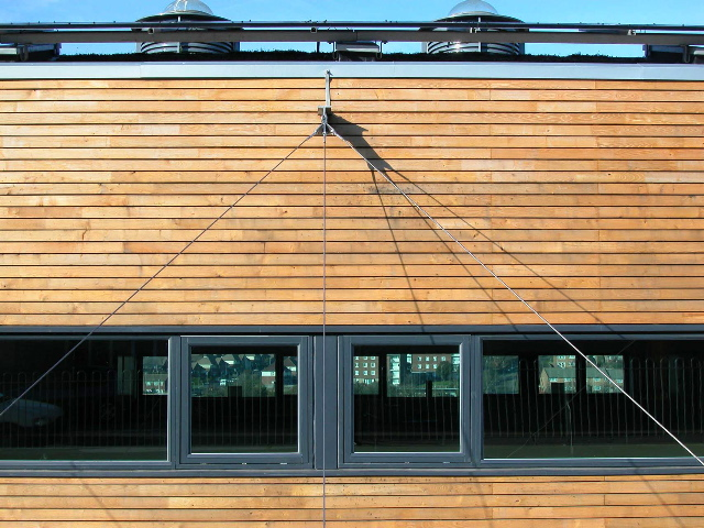 Wood Cladding Elevation : Baker brown mckay s use of sweet chestnut cladding for a